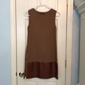 Ted baker leather bottom dress